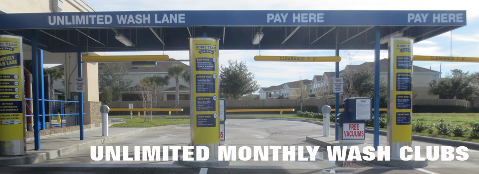 Unlimited Monthly Wash Clubs